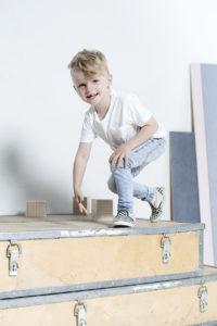 I dig denim fotografering modell barn